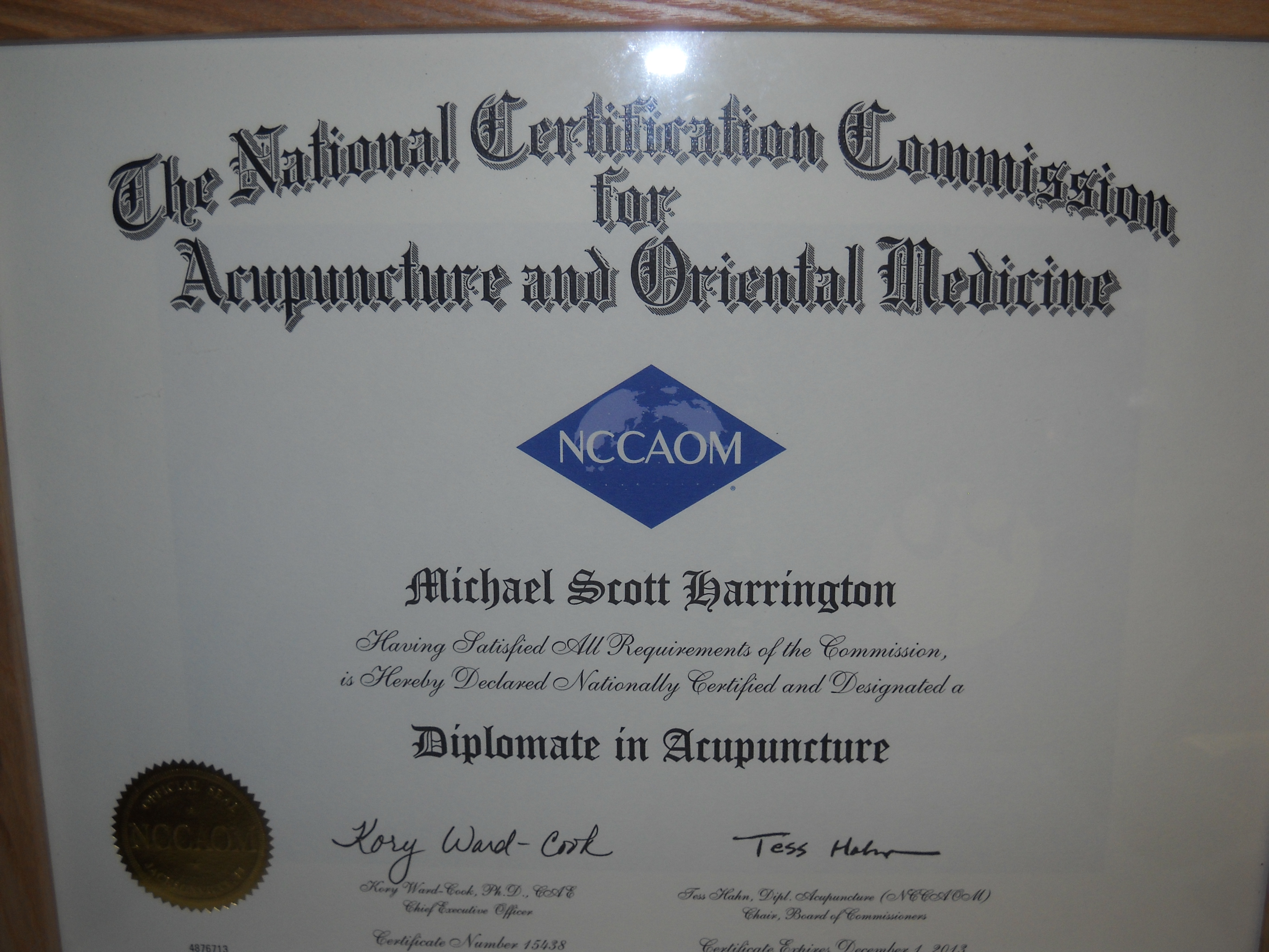 National Acupuncture Certification – Open to Healing